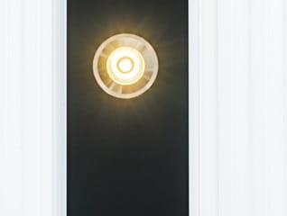 LED-in-Sparren-eingesetzt