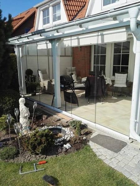 6 teilig / Breite 369- 600cm/ Höhe 198- 202cm DELUXE PROFI Glasschiebewand