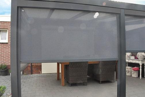 Windfeste Markise für Terrassendach