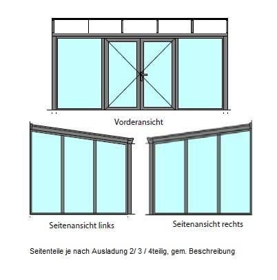 Funktionsskizze Sommergarten Alu Doppeltür