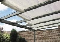 Sonennschutz für Terrassendach mit Glas