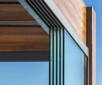 Glasschiebetür mit 5 Elementen für Terrasse