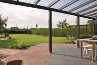 Terrassendach Bausatz mit Glas Breite 700cm