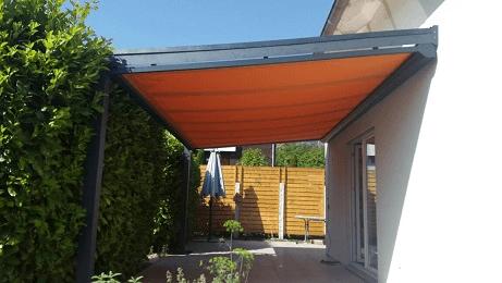 Bausatz Terrassendach aus Aluminium mit Markise