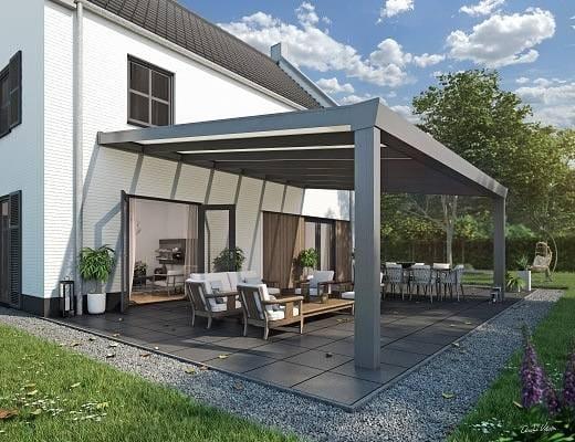 Terrassendach mit VSG SUPERIOR