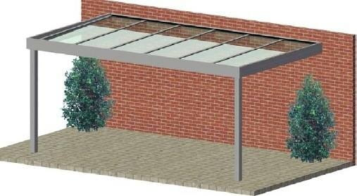 Terrassendach Flatroof Wandmontage standard